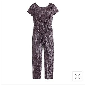 J Crew Sequence Burgundy Jump Suit